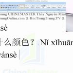 luyện thi hsk online từ vựng hsk 1 bài 233