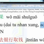 luyện thi hsk online từ vựng tiếng trung hsk 2 bài 96