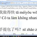 TiengTrungHSK học tiếng Trung Quận Thanh Xuân bài 2